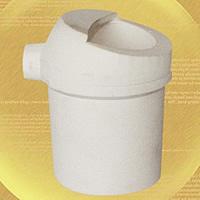 Quarz Schmelztiegel, weiß, 59x93mm, 2PCs/Menge, verkauft von Menge