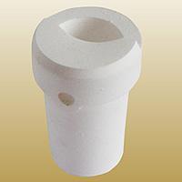 Quarz Schmelztiegel, weiß, 53x80mm, 2PCs/Menge, verkauft von Menge