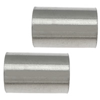 Edelstahlrohr Perlen, 304 Edelstahl, originale Farbe, 9x6x0.50mm, Bohrung:ca. 5mm, 200PCs/Menge, verkauft von Menge