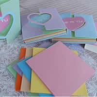 Origami Papier, Quadrat, für Origami-Kraniche machen, gemischte Farben, 80x80mm, 20Taschen/Menge, ca. 120PCs/Tasche, verkauft von Menge