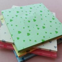 Origami Papier, Quadrat, für Origami-Kraniche machen & mit einem Muster von Herzen, gemischte Farben, 75x75mm, 20Taschen/Menge, ca. 150PCs/Tasche, verkauft von Menge
