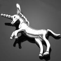 Zinklegierung Tier Anhänger, Pferd, antik silberfarben plattiert, frei von Nickel, Blei & Kadmium, 33.70x19.70mm, Bohrung:ca. 1-3mm, 500PCs/Tasche, verkauft von Tasche