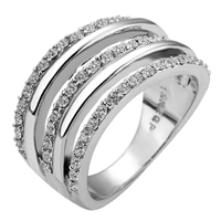 comeon® Finger-Ring, Zinklegierung, platiniert, Weitere Größen für Wahl & mit Strass, keine, frei von Nickel, Blei & Kadmium, 11mm, verkauft von PC