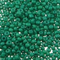 Volltonfarbe Glas Rocailles, Glas-Rocailles, rund, verschiedene Größen vorhanden, grün, Bohrung:ca. 1mm, verkauft von Tasche