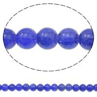 Knistern Glasperlen, Glas, rund, Hyazinth, 10mm, Bohrung:ca. 1mm, Länge:ca. 31.5 ZollInch, 10SträngeStrang/Tasche, verkauft von Tasche