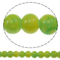 Einbrennlack Glasperlen, Glas, rund, keine, 8mm, Bohrung:ca. 1mm, Länge:ca. 33 ZollInch, 10SträngeStrang/Tasche, verkauft von Tasche