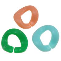 Acryl Verbindungsring, Klumpen, offen & Gellee Stil, gemischte Farben, 23x25x3mm, Bohrung:ca. 14mm, ca. 415PCs/Tasche, verkauft von Tasche