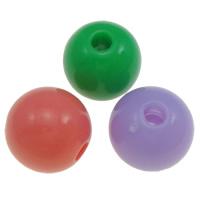 Gelee-Stil-Acryl-Perlen, Acryl, rund, Gellee Stil, gemischte Farben, 10-13mm, Bohrung:ca. 2-2.5mm, ca. 1000PCs/Tasche, verkauft von Tasche