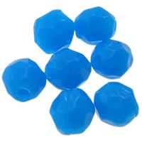 Volltonfarbe Acryl Perlen, Trommel, facettierte, keine, 3x4mm, Bohrung:ca. 0.5-1mm, ca. 25000PCs/Tasche, verkauft von Tasche