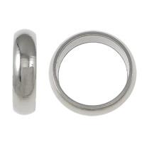 Edelstahl-Perlen mit großem Loch, Edelstahl, Kreisring, Weitere Größen für Wahl, originale Farbe, verkauft von Menge