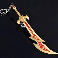 Zinklegierung Schlüsselanhänger, SchwertKlinge, plattiert, Emaille, frei von Nickel, Blei & Kadmium, 160mm, 20PCs/Menge, verkauft von Menge