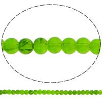 Knistern Glasperlen, Glas, rund, grün, 4mm, Bohrung:ca. 1mm, Länge:ca. 30.7 ZollInch, 10SträngeStrang/Tasche, verkauft von Tasche