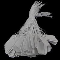 Schmuck Preisschild, Papier, Rechteck, weiß, 15-16X25-26mm, 500PCs/Tasche, verkauft von Tasche