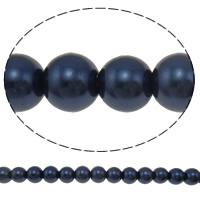 Perlmuttartige Glasperlen, rund, keine, 10mm, Bohrung:ca. 1mm, Länge:ca. 32 ZollInch, 10SträngeStrang/Tasche, 88/Strang, verkauft von Tasche