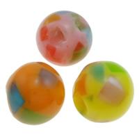 Harz Schmuckperlen, rund, gemischte Farben, 11mm, Bohrung:ca. 1.5mm, 1000PCs/Tasche, verkauft von Tasche