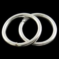 Eisen geschlossene Biegering, Kreisring, silberfarben plattiert, verschiedene Größen vorhanden, frei von Nickel, Blei & Kadmium, verkauft von Tasche