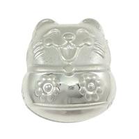 925 Sterling Silber Perlen, Katze, 10.50x12x7.50mm, Bohrung:ca. 3mm, 20PCs/Menge, verkauft von Menge