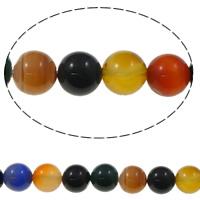 Natürliche Regenbogen Achat Perlen, rund, verschiedene Größen vorhanden, Bohrung:ca. 1mm, verkauft per ca. 15.5 ZollInch Strang