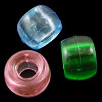 Transparente Acryl-Perlen, Acryl, Trommel, gemischte Farben, 9x6mm, Bohrung:ca. 3.5mm, ca. 1800PCs/Tasche, verkauft von Tasche