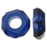 Harz European Perlen, Rondell, Imitation Kristall & transparent & ohne troll & facettierte, keine, 14x5mm, Bohrung:ca. 6mm, 100PCs/Tasche, verkauft von Tasche