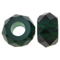 Harz European Perlen, Rondell, Imitation Kristall & transparent & ohne troll & facettierte, keine, 14x8mm, Bohrung:ca. 6mm, 100PCs/Tasche, verkauft von Tasche