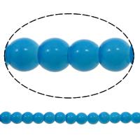 Einbrennlack Glasperlen, Glas, rund, gemischte Farben, 7mm, Bohrung:ca. 1mm, Länge:ca. 32.2 ZollInch, 10SträngeStrang/Tasche, verkauft von Tasche