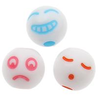 Volltonfarbe Acryl Perlen, gemischt, 8x8mm, Bohrung:ca. 1mm, ca. 1800PCs/Tasche, verkauft von Tasche