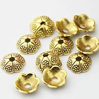 Zinklegierung Perlenkappe, Blume, antike Goldfarbe plattiert, frei von Nickel, Blei & Kadmium, 6mm, Bohrung:ca. 2mm, 2000PCs/Menge, verkauft von Menge