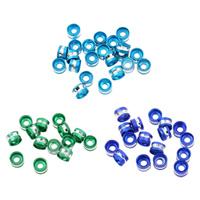 Aluminium Zwischenperlen, Zylinder, Spritzlackierung, keine, frei von Nickel, Blei & Kadmium, 6x4mm, Bohrung:ca. 2mm, ca. 1000PCs/Tasche, verkauft von Tasche