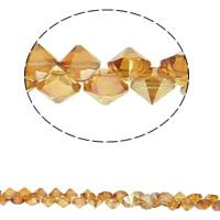 Klasse AA Kristallperlen, Kristall, Raute, bunte Farbe plattiert, verschiedene Größen vorhanden & facettierte & AA grade crystal, Topaz AB, Bohrung:ca. 1mm, ca. 100PCs/Strang, verkauft per ca. 11 ZollInch Strang