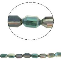 Klasse AA Kristallperlen, Kristall, Doppelkegel, bunte Farbe plattiert, verschiedene Größen vorhanden & facettierte & AA grade crystal, Chrysolite AB, Bohrung:ca. 1mm, verkauft per ca. 15.5 ZollInch Strang