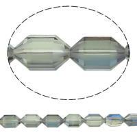 Klasse AA Kristallperlen, Kristall, Doppelkegel, bunte Farbe plattiert, verschiedene Größen vorhanden & facettierte & AA grade crystal, Schatten Kristall, Bohrung:ca. 1mm, verkauft per ca. 15.5 ZollInch Strang