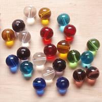 Runde Kristallperlen, Kristall, verschiedene Größen vorhanden, gemischte Farben, Bohrung:ca. 1-1.5mm, ca. 100PCs/Tasche, verkauft von Tasche