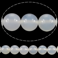 Natürliche weiße Achat Perlen, Weißer Achat, rund, Weitere Größen für Wahl, verkauft von Menge