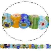 Chevron Glasperlen, Herz, handgemacht, gemischte Farben, 6x12mm, Bohrung:ca. 1mm, Länge:ca. 12.5 ZollInch, 10SträngeStrang/Tasche, verkauft von Tasche