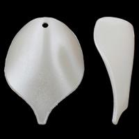 ABS-Kunststoff-Perlen Anhänger, Blatt, weiß, 29x40x10mm, Bohrung:ca. 2mm, 20PCs/Tasche, verkauft von Tasche