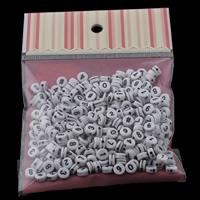 Volltonfarbe Acryl Perlen, flache Runde, gemischtes Muster, 7x3mm, 100x170mm, Bohrung:ca. 1mm, ca. 240PCs/Tasche, verkauft von Tasche