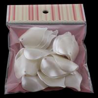 ABS-Kunststoff-Perlen Anhänger, Blatt, weiß, 29x40x10mm, 100x170mm, Bohrung:ca. 2mm, 20PCs/Tasche, verkauft von Tasche