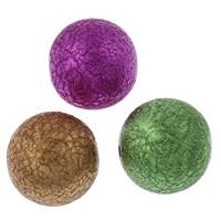 Sternenstaub Acrylpelen, Acryl, rund, Spritzlackierung, Falten, gemischte Farben, 20mm, Bohrung:ca. 2mm, 100PCs/Tasche, verkauft von Tasche