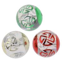 Plattierte Acrylperlen, Acryl, rund, UV plattiert, transparent, gemischte Farben, 20mm, Bohrung:ca. 2mm, 100PCs/Tasche, verkauft von Tasche