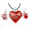 17Inch Lampwork Glass Necklace And Earrings Set