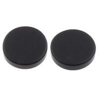 Edelstahl Magnetische Ohrstecker, flache Runde, schwärzen, verschiedene Größen vorhanden, verkauft von Paar