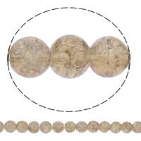 Knistern Glasperlen, Glas, rund, keine, 8mm, Bohrung:ca. 1.5mm, Länge:ca. 31.5 ZollInch, 10SträngeStrang/Tasche, ca. 108PCs/Strang, verkauft von Tasche