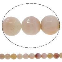 Natürliche Kaffee Achat Perlen, rund, verschiedene Größen vorhanden & facettierte, Bohrung:ca. 1mm, Länge:ca. 15 ZollInch, verkauft von Menge