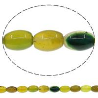 Natürliche gelbe Achat Perlen, Gelber Achat, oval, 8x12mm, Bohrung:ca. 1mm, Länge:ca. 15 ZollInch, 10SträngeStrang/Menge, ca. 33PCs/Strang, verkauft von Menge