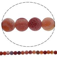 Natürliche Effloresce Achat Perlen, Auswitterung Achat, rund, 6mm, Bohrung:ca. 1mm, Länge:ca. 15 ZollInch, 10SträngeStrang/Menge, ca. 63PCs/Strang, verkauft von Menge