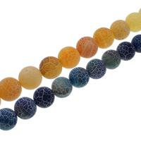 Natürliche Effloresce Achat Perlen, Auswitterung Achat, rund, verschiedene Größen vorhanden, keine, Bohrung:ca. 1mm, Länge:ca. 15 ZollInch, verkauft von Menge