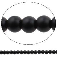 Perlmuttartige Glasperlen, Glas, rund, Einbrennlack, Nachahmung Perle, keine, 8mm, Bohrung:ca. 1mm, Länge:ca. 31.5 ZollInch, 10SträngeStrang/Tasche, ca. 116PCs/Strang, verkauft von Tasche