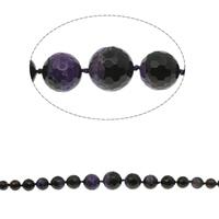 Zwei Ton Achat Perlen, Zweifarbiger Achat, rund, abgestufte Perlen & facettierte, 6mm-20mm, Bohrung:ca. 1mm, ca. 35PCs/Strang, verkauft per ca. 16 ZollInch Strang