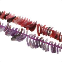 Natürliche Crackle Achat Perlen, Geknister Achat, facettierte, keine, 20x4x10mm-45x10x22mm, Bohrung:ca. 1mm, ca. 50PCs/Strang, verkauft per ca. 15.3 ZollInch Strang